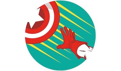 Komar Fototapete »Avengers Captain's Shield Pop Art«, bedruckt-Comic-Retro-mehrfarbig,... kaufen