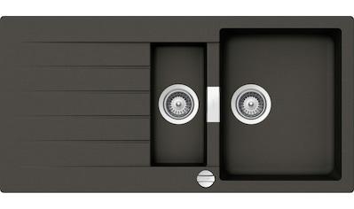 SCHOCK Granitspüle »Family Plus«, mit Restebecken, 100 x 50 cm kaufen