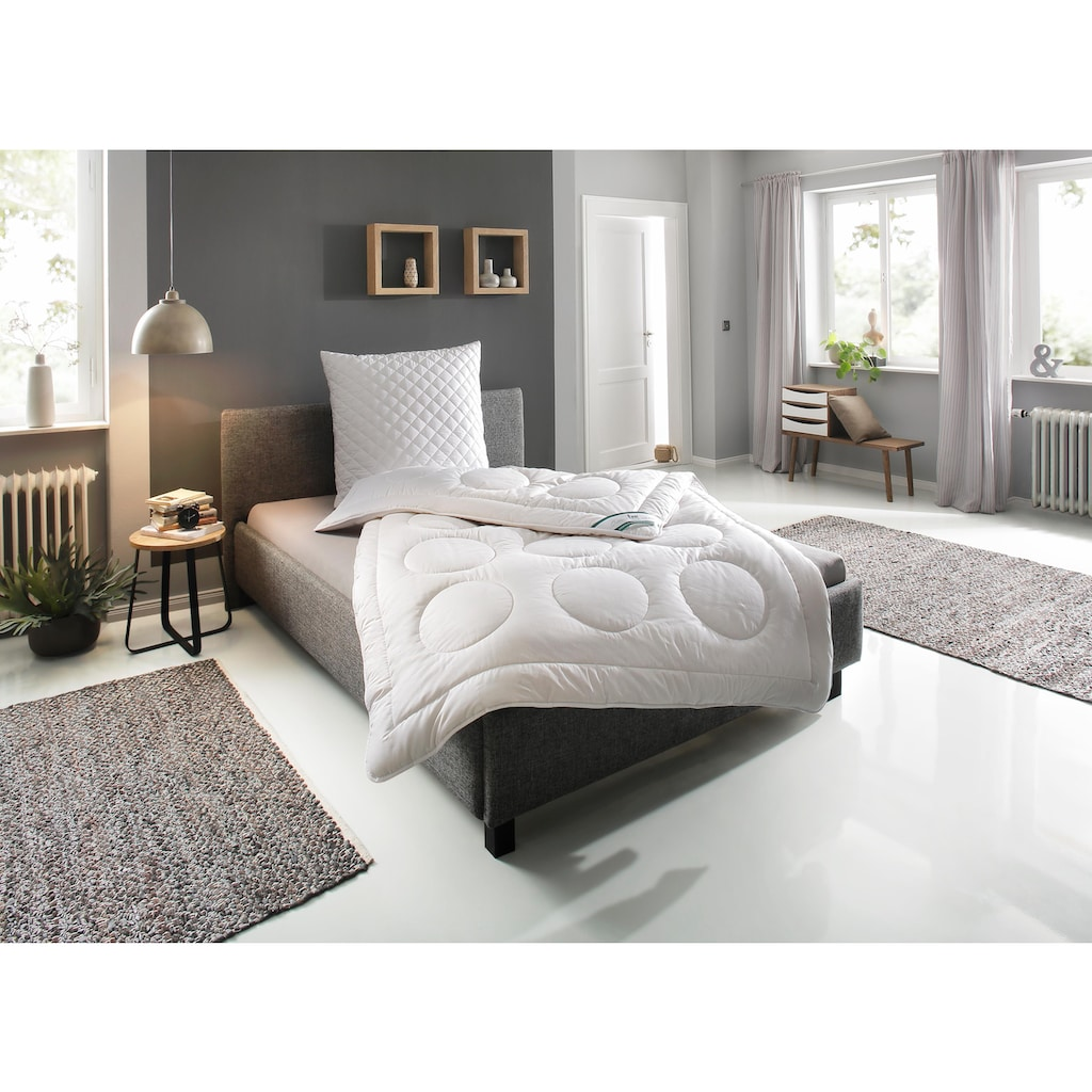 fan Schlafkomfort Exklusiv Naturfaserbettdecke »Baumwolle«, extrawarm, Füllung 100% Baumwolle, Bezug 100% Baumwolle, (1 St.), hergestellt aus 100% natürlichen Materialien - angenehm temperaturausgleichend