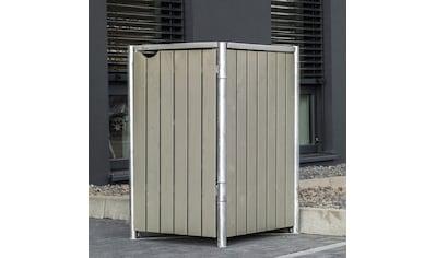 HIDE Mülltonnenbox für 1 x 120 l, grau/natur kaufen
