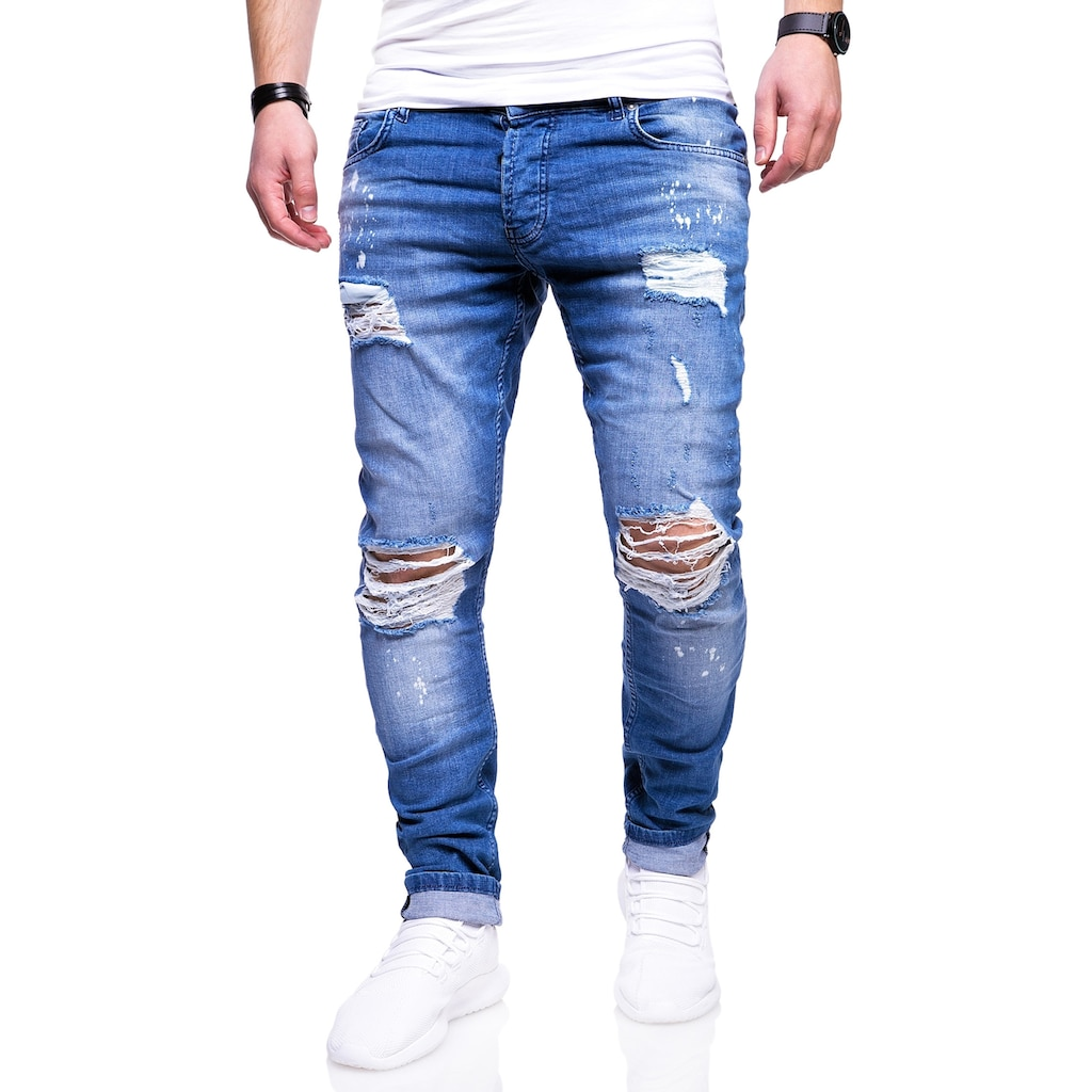behype Slim-fit-Jeans »SLY«, mit Destroyed-Elementen