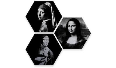 Wall-Art Mehrteilige Bilder »Berühmte Frauen Kunstgeschichte«, (Set, 3 St.) kaufen