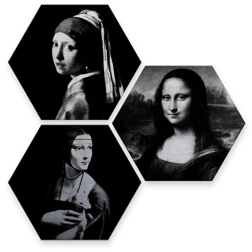 Wall-Art Mehrteilige Bilder »Berühmte Frauen Kunstgeschichte«, (Set, 3 St.)