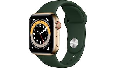 Apple Series 6 GPS + Cellular, Edelstahlgehäuse mit Sport Loop 40mm Watch (Watch OS 6) kaufen