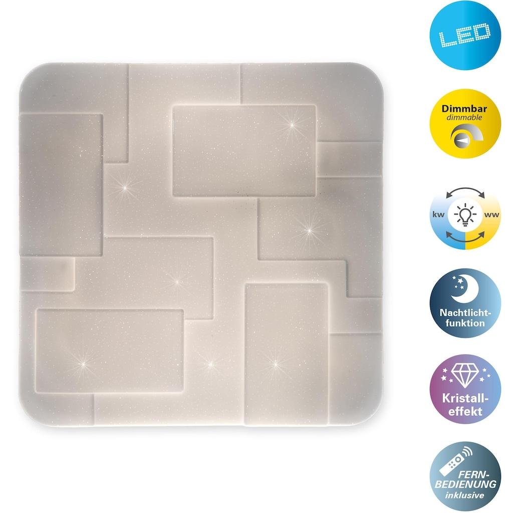 näve LED Deckenleuchte »Luxor«, LED-Board, Warmweiß-Kaltweiß, Kristalleffekt