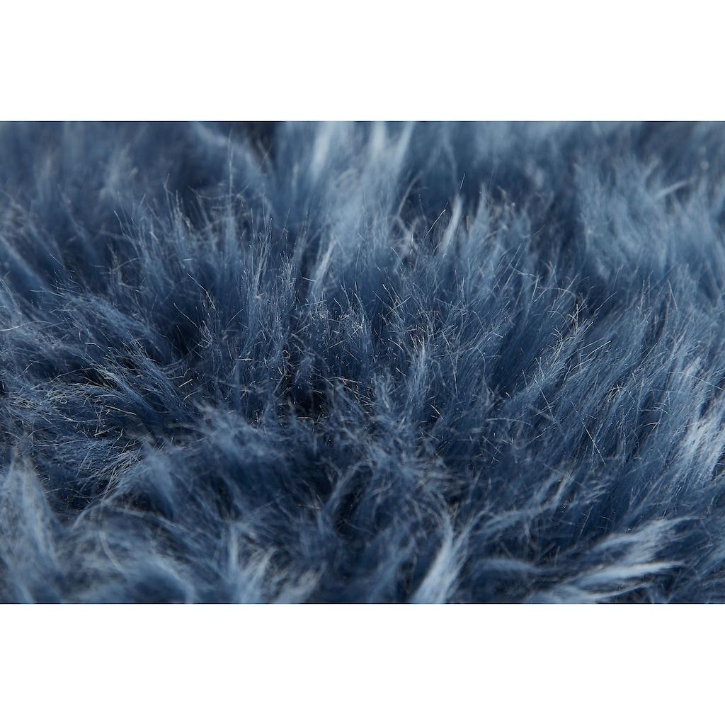 LUXOR living Fellkissen »Namika«, Dekokissen, Zierkissen, eckig, 35x35 cm, echtes Lammfell, inkl. Kissenfüllung, Wohnzimmer