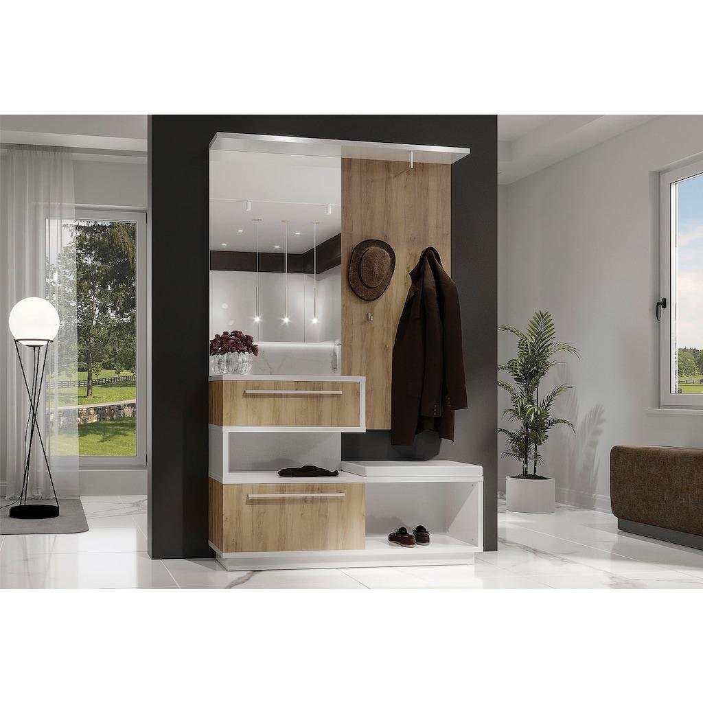 Places of Style Kompaktgarderobe »Solo«, hochwertig UV lackiert, mit Sitzkissen, mit Soft-Close-Funktion