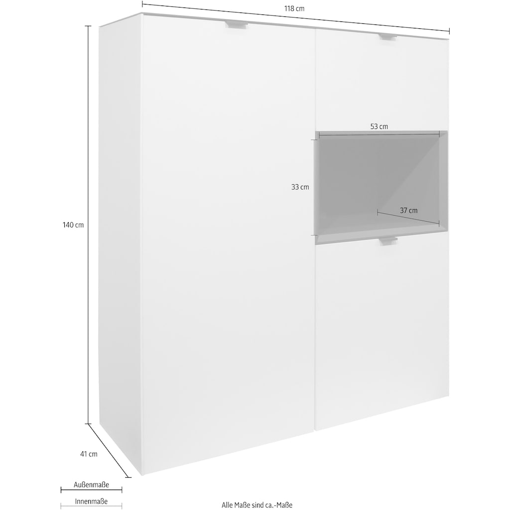 Stauraumvitrine »Micelli«, Höhe 140 cm