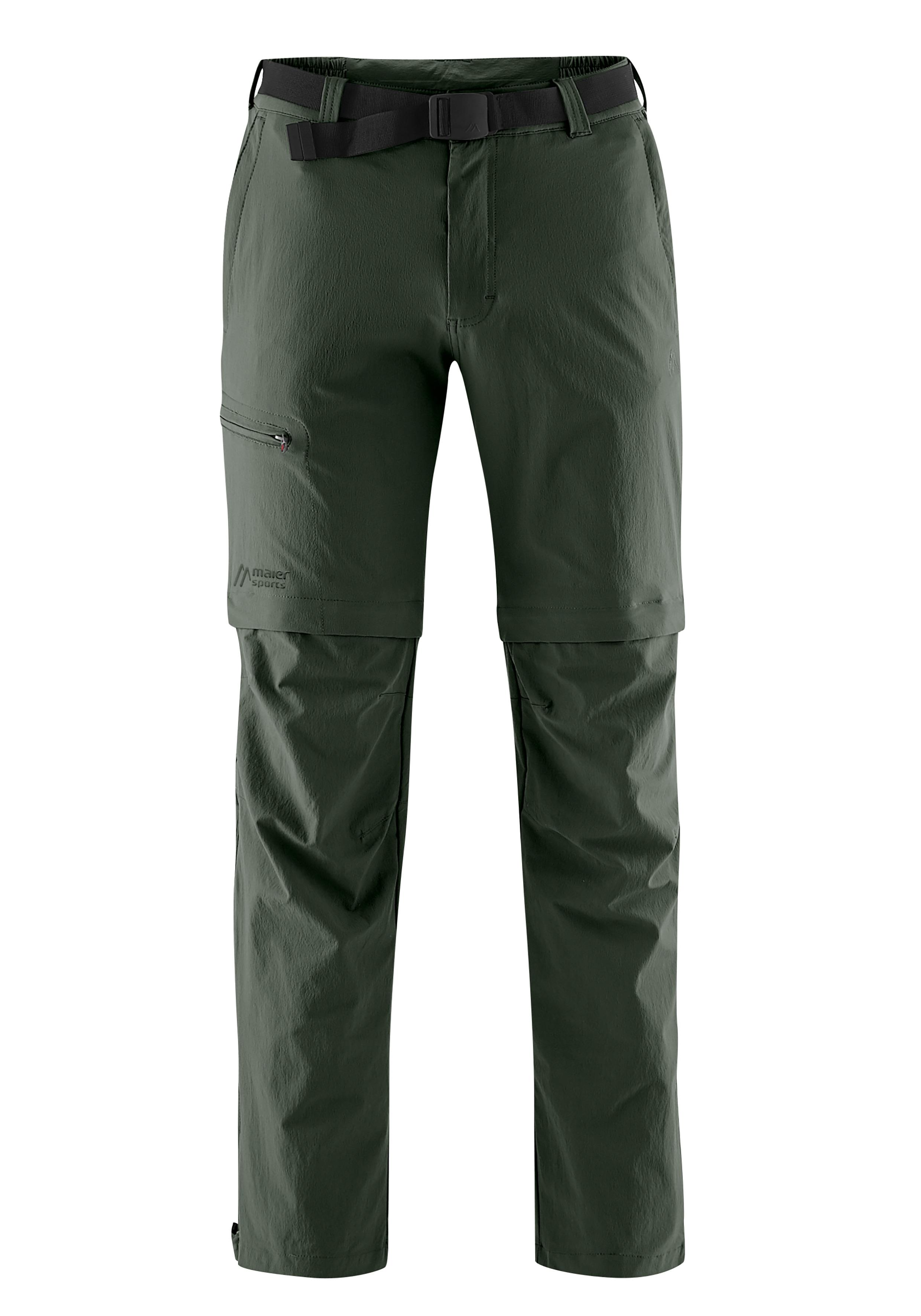 Maier Sports Funktionshose Tajo, Ausgezeichnete Outdoorhose mit funktionellem T-Zipp-Off grün Herren