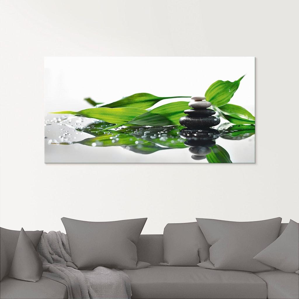Artland Glasbild »Spa mit Steinen und Bambus«, Zen, (1 St.)