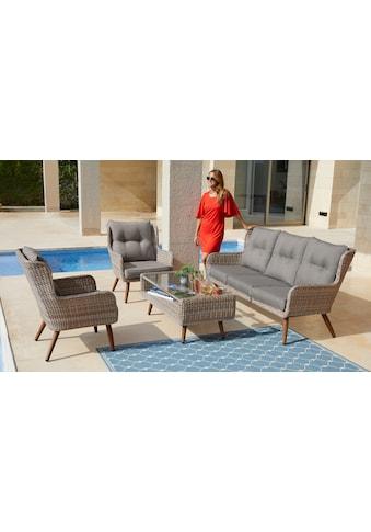 KONIFERA Loungeset »Malibu«, 14 - tlg., 3er Sofa, 2 Sessel, Tisch, Polyrattan kaufen