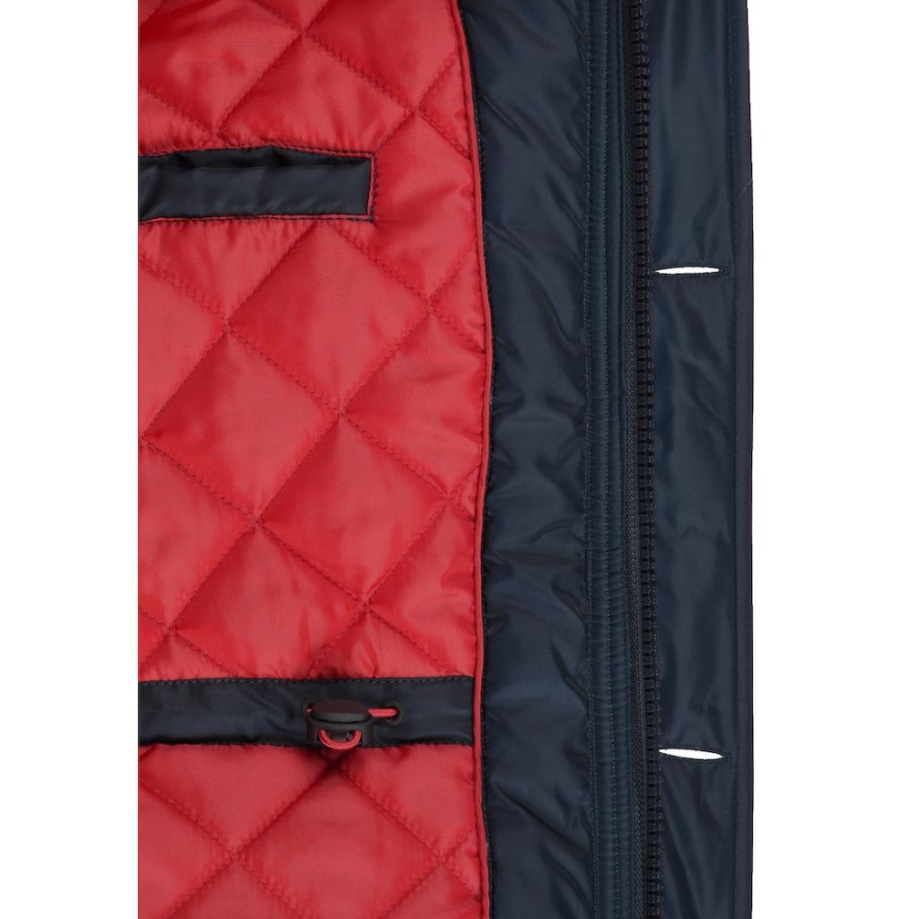 Solid Winterjacke »Betto«, lange Jacke mit abnehmbarem Kunstfellkragen