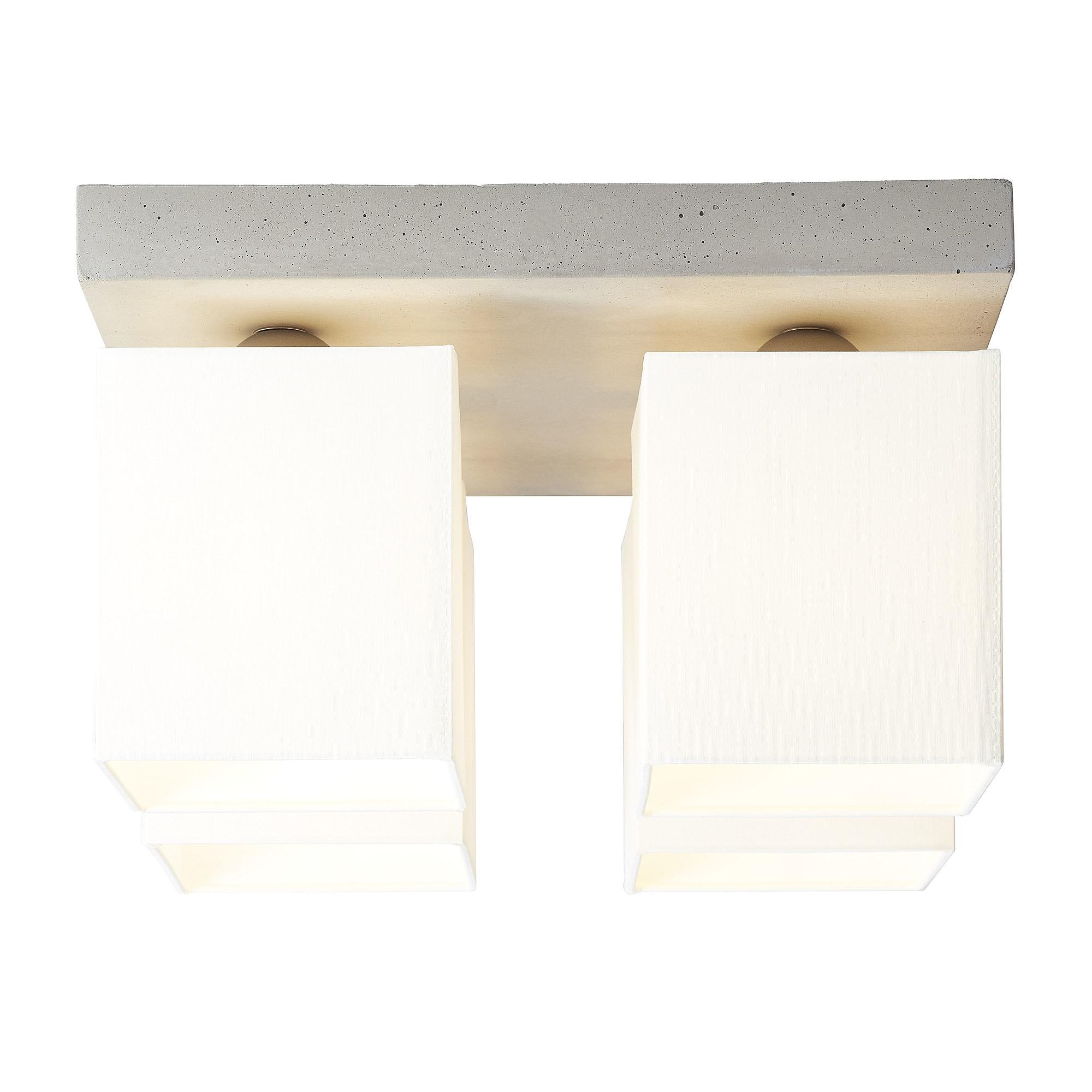 Brilliant Leuchten Monty Deckenleuchte 4flg beton/weiß