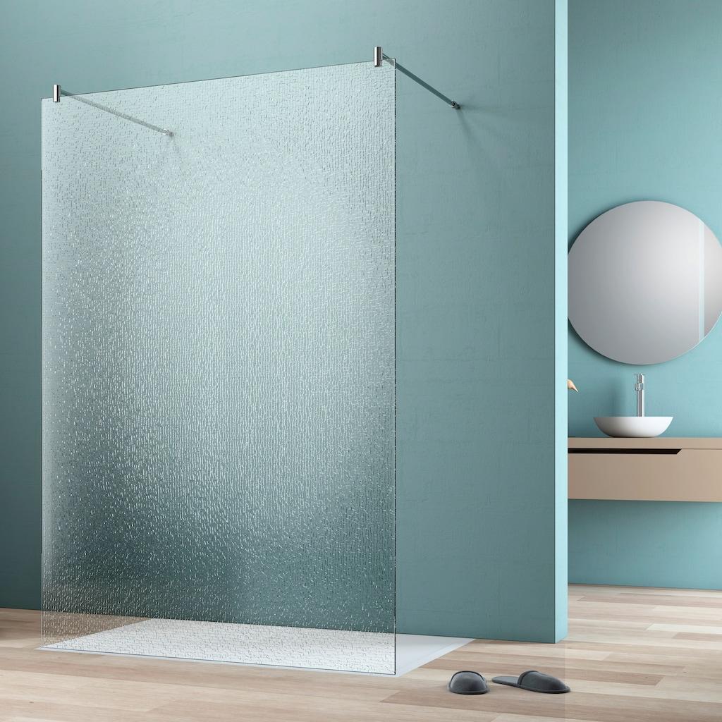 maw by GEO Walk-in-Dusche »flex A-W002C«, BxH: 90 x 200 cm, Crash-Glas klar