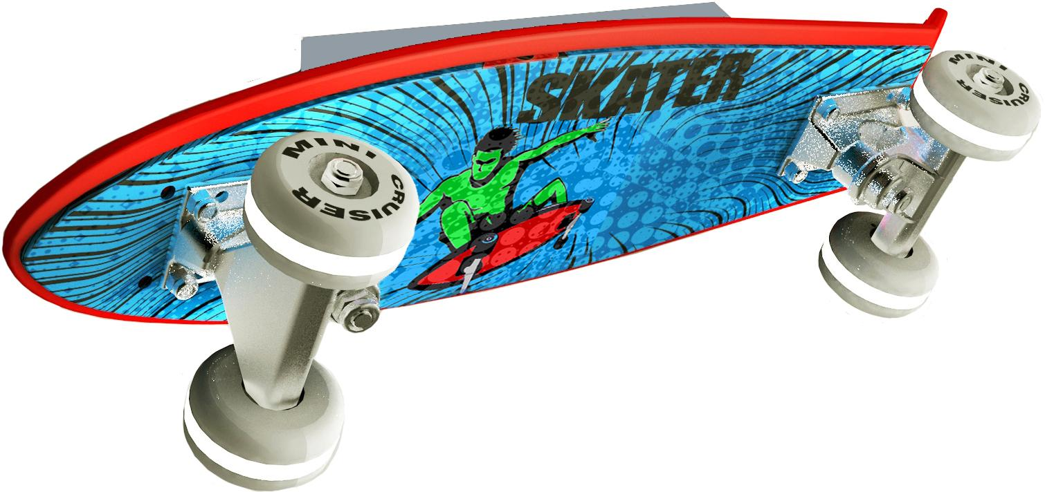 EVOTEC LED Wandleuchte Skateboard MINI CRUISER, LED-Board, Warmweiß