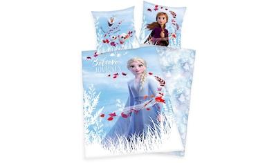 Disney Kinderbettwäsche »Disney´s Eiskönigin 2«, mit Elsa, Anna und Olaf kaufen