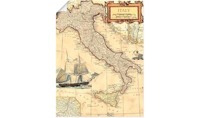 Artland Wandbild »Italienkarte« kaufen