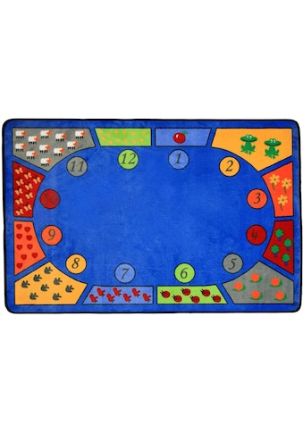 Kinderteppich, »BILDER & ZAHLEN«, Primaflor - Ideen in Textil, rechteckig, Höhe 5 mm, maschinell getuftet kaufen