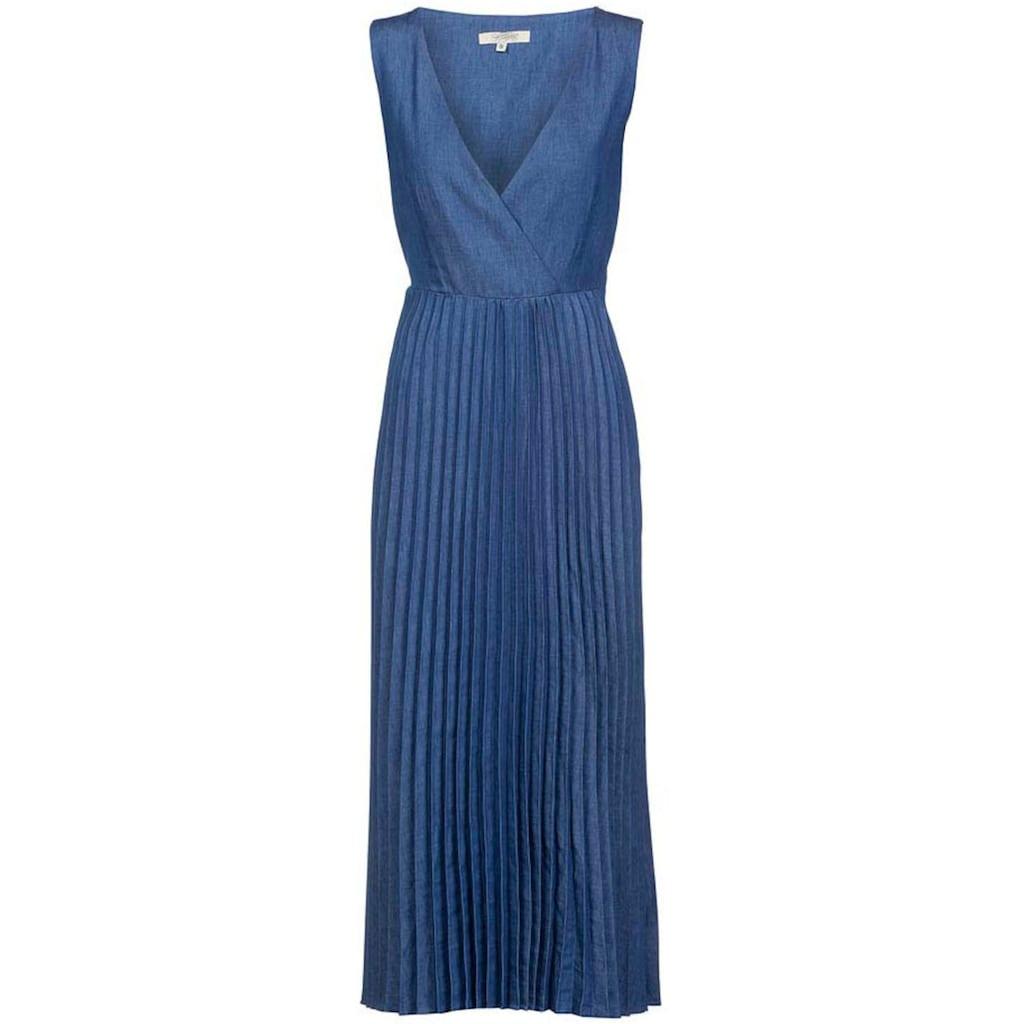 Herrlicher Jeanskleid »ANIA DRESS«, mit Plisseefalten