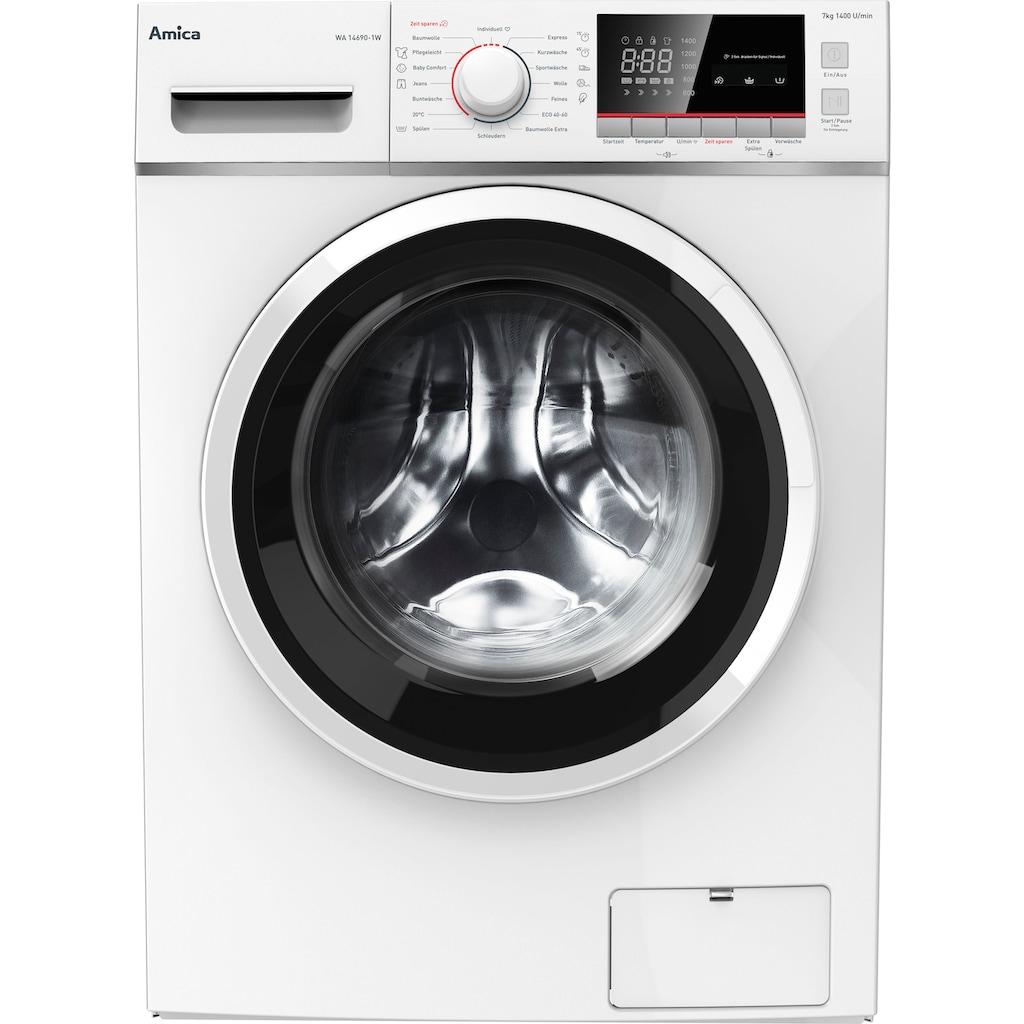 Amica Waschmaschine »WA 14690-1 W«, WA 14690-1 W, 7 kg, 1400 U/min