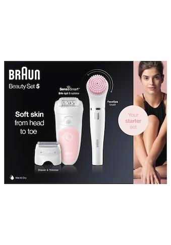 Braun, Epilierer Silk - épil Deluxe Beauty - Set 5 - 895 6 - in - 1, Aufsätze: 4 St. kaufen