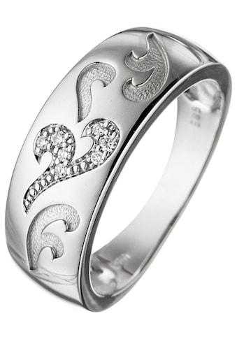 JOBO Diamantring, 585 Weißgold mit 7 Diamanten kaufen