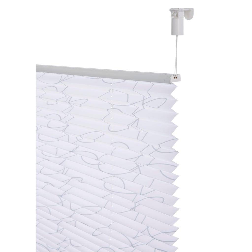 my home Plissee »Kringel«, Lichtschutz, ohne Bohren, verspannt, im Fixmaß
