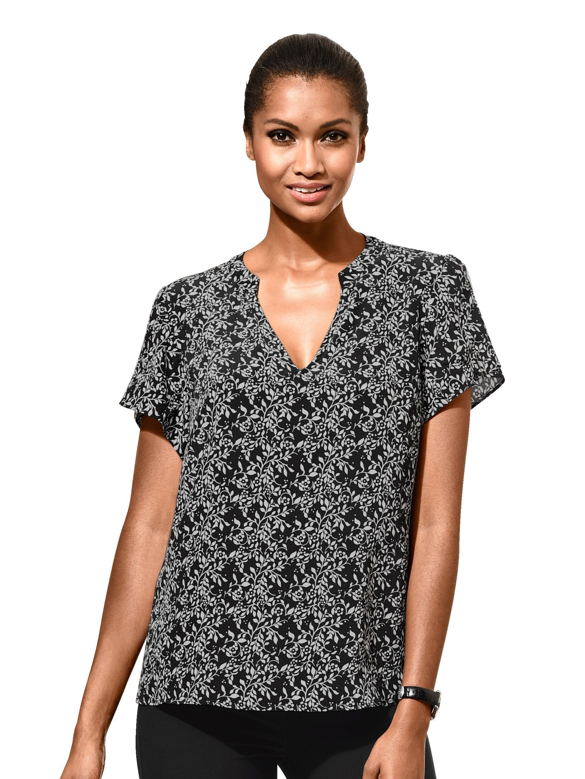 Alba Moda Blusenshirt in floralem allover Print