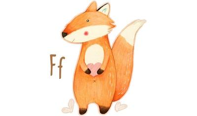 Wall-Art Wandtattoo »Fuchs Waldtiere Buchstabe F« kaufen