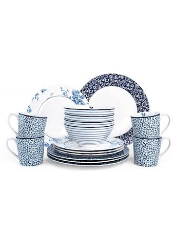 LAURA ASHLEY BLUEPRINT COLLECTABLES Kombiservice »Mix Designs Floris, Candy Stripe,... kaufen