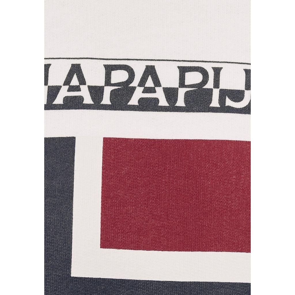 Napapijri Kapuzenshirt, mit großem Logoprint