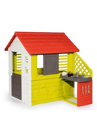 Smoby Spielhaus Natur mit Sommerküche kaufen