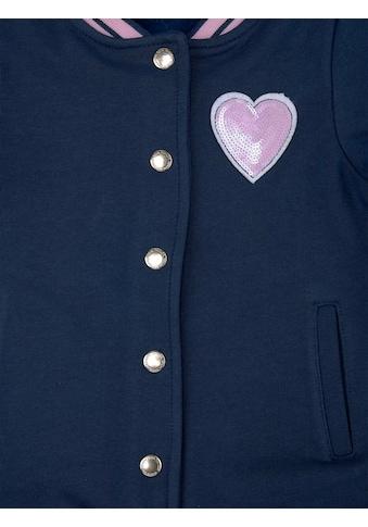 TOM TAILOR Sweatshirt »Collegejacke mit Paillettenmotiv« kaufen