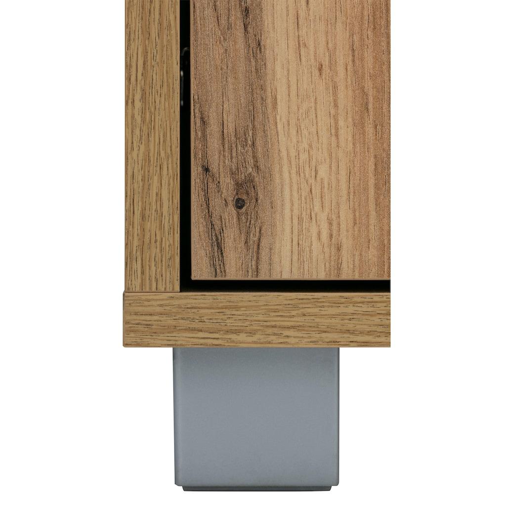 Schildmeyer Schuhschrank »Pisa«, Breite 132 cm, mit Metallgriffen