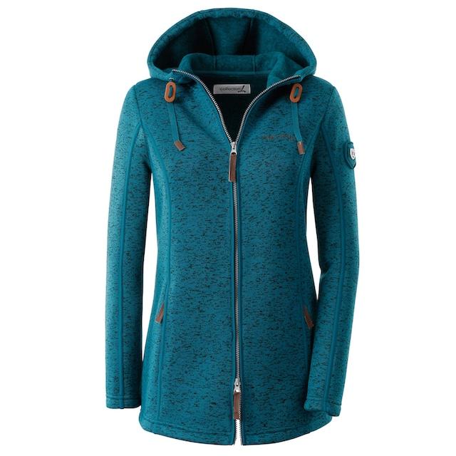 Casual Looks Fleece-Jacke mit Kapuze