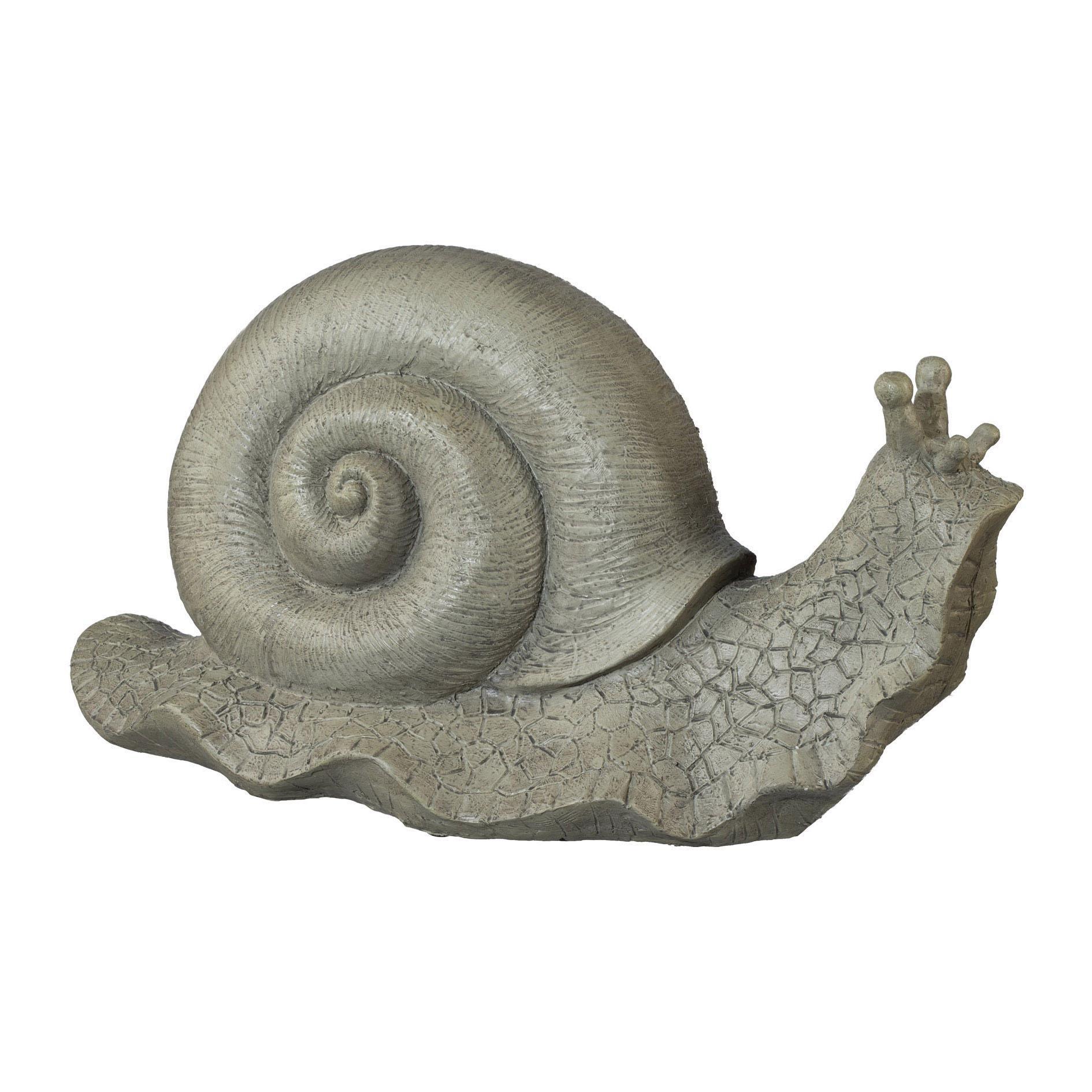 Creativ home Tierfigur, Polyresin Schnecke grau Tierfiguren Figuren Skulpturen Wohnaccessoires Tierfigur