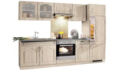 wiho Küchen Küchenzeile »Linz«, mit E-Geräten, Breite 270 cm, mit Cerankochfeld kaufen