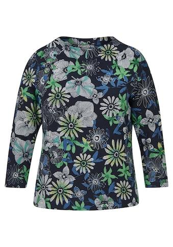 Rabe Shirt mit geblümtem Allover-Muster und Ärmeln in 3/4-Länge kaufen