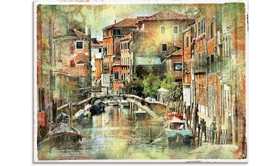 Artland Glasbild »Kanal in Venedig«, Italien, (1 St.) kaufen