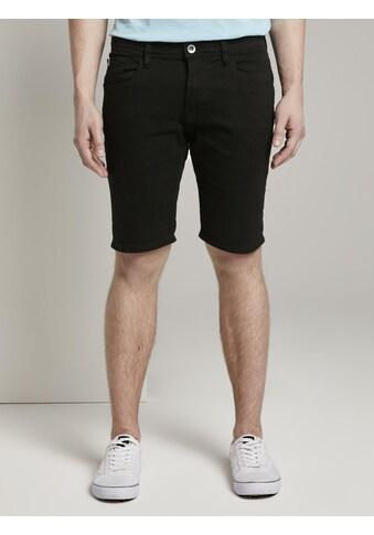 TOM TAILOR Denim Jeansshorts »Basic Jeansshorts mit Kordel-Schlüsselanhänger « kaufen