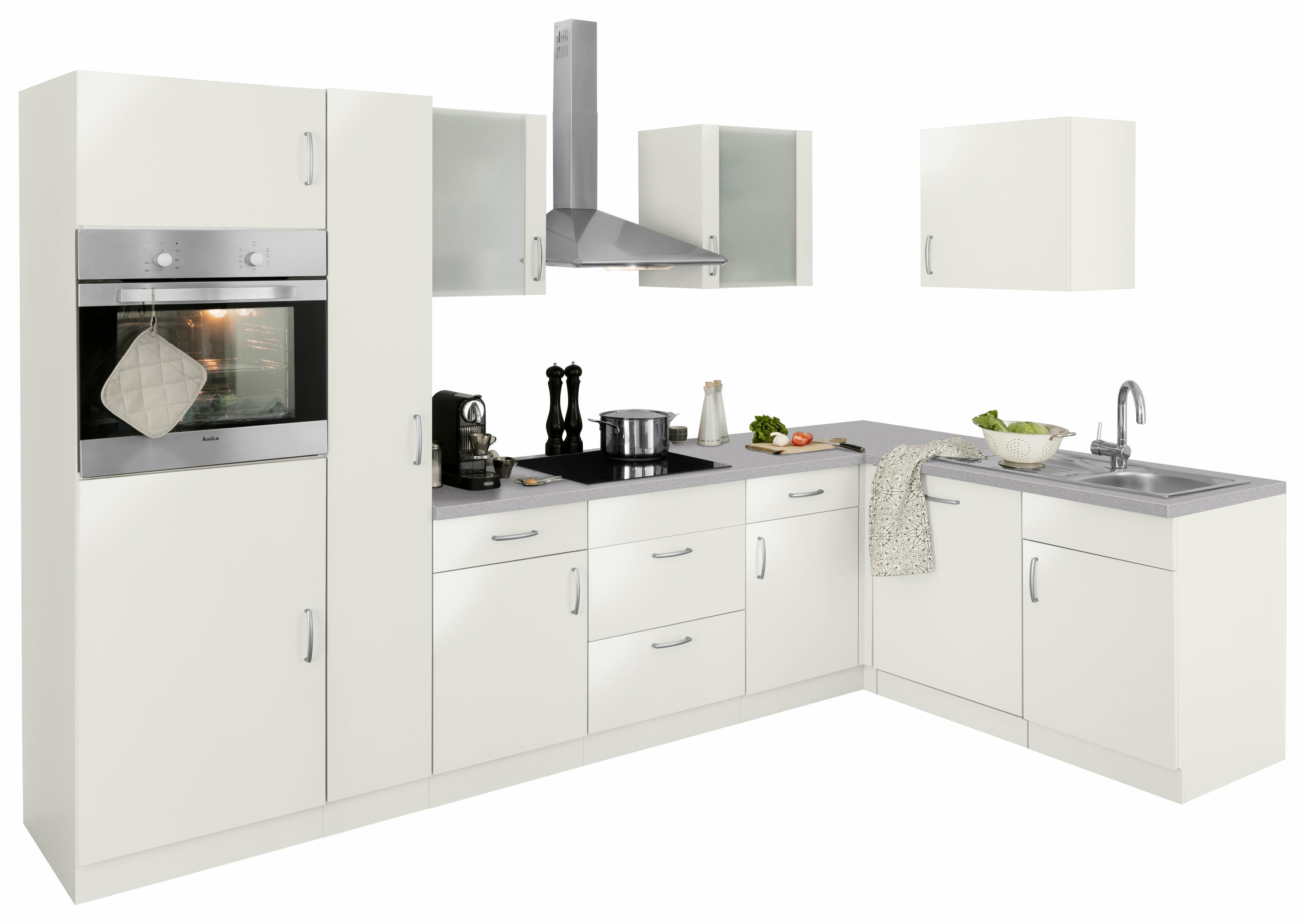 wiho Küchen Winkelküche Brüssel mit E-Geräten Stellbreite 310 x 170 cm