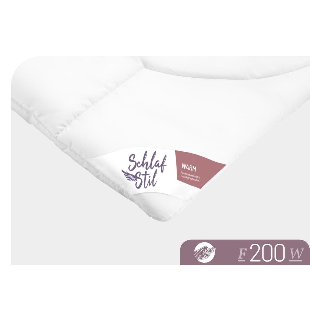 Schlafstil Baumwollbettdecke »F200«, warm, (1 St.), hergestellt in Deutschland, allergikerfreundlich