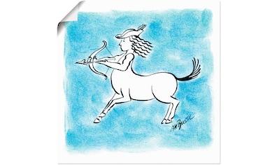 Artland Wandbild »Serie Sternzeichen Schütze« kaufen