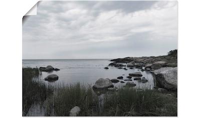 Artland Wandbild »Einsame Bucht am Meer«, Gewässer, (1 St.), in vielen Größen &... kaufen