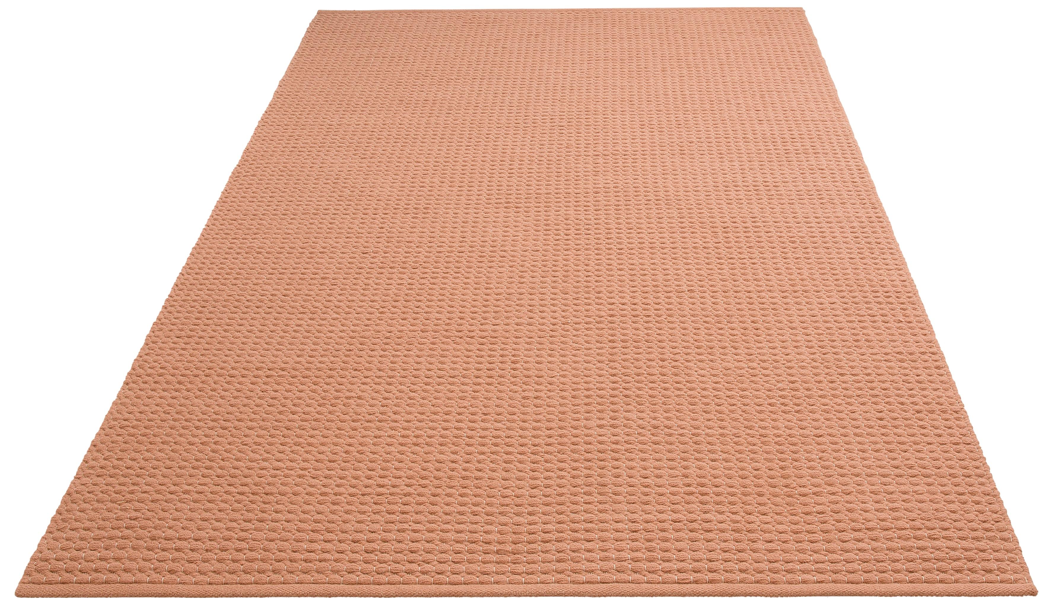 DELAVITA Teppich Sanara, rechteckig, 13 mm Höhe, Strickoptik, Wohnzimmer rosa Esszimmerteppiche Teppiche nach Räumen