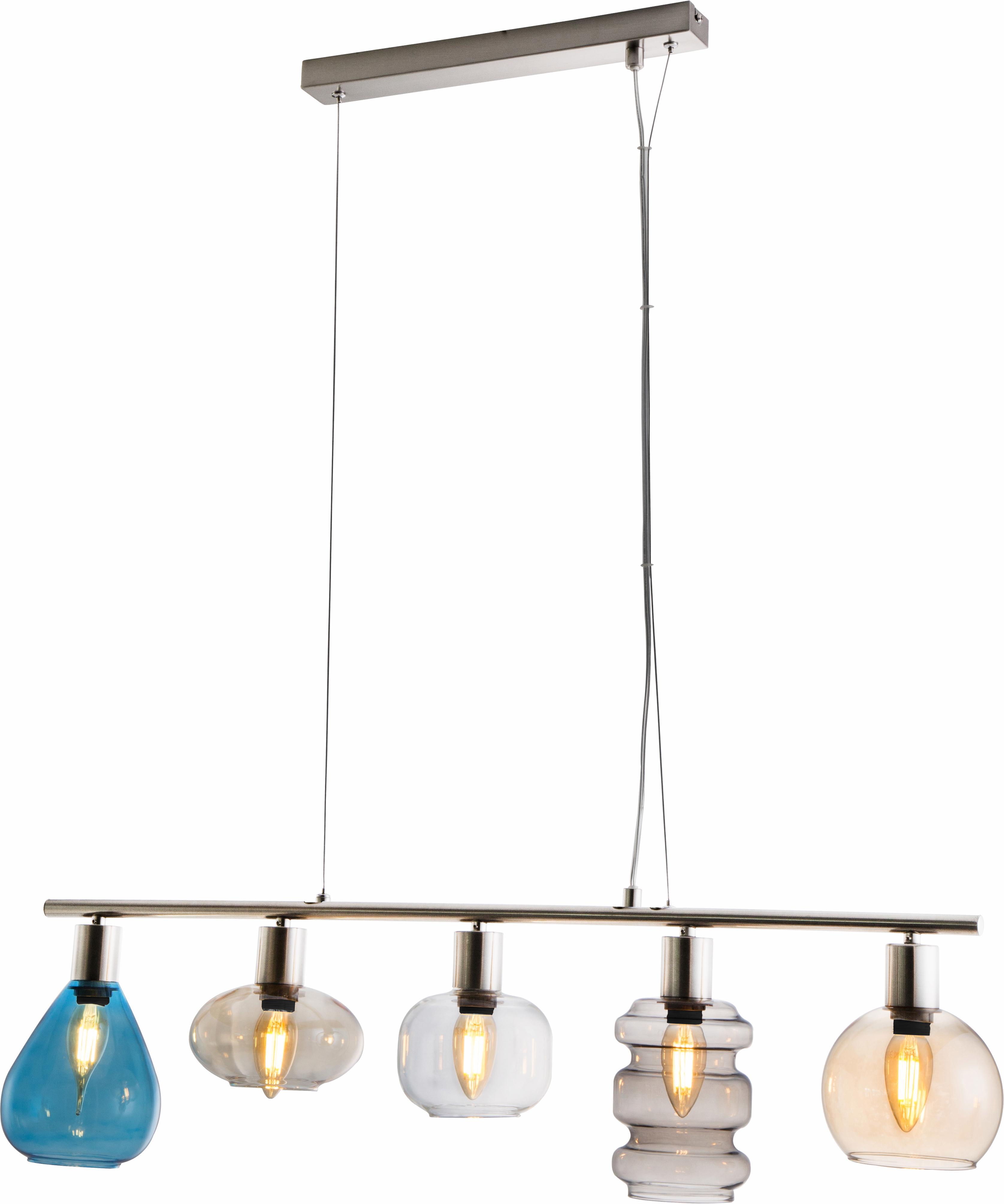 Nino Leuchten Pendelleuchte PESARO, E14, Hängeleuchte, Hängelampe, dimmbar