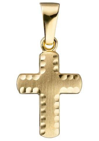 JOBO Kreuzanhänger, Kreuz 585 Gold diamantiert kaufen