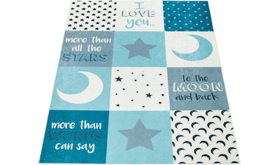 Paco Home Kinderteppich »Aleyna 101«, rechteckig, 6 mm Höhe, Kinder Design, Mond + Sterne Motiv, Kinderzimmer kaufen