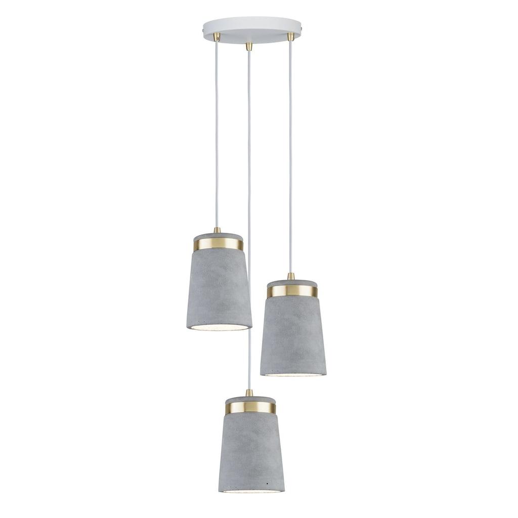 Paulmann LED Pendelleuchte »Neordic Norell Weiß/Gold/Beton«, E27, 1 St.
