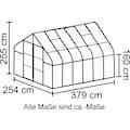 VITAVIA Komplett-Set: Gewächshaus »Diana 9900«, BxTxH: 254x379x255 cm, 3 mm, mit 3-tlg. Zubehör